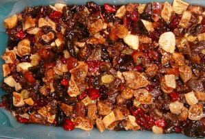 Dried fruit after soaking several weeks