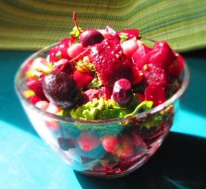 Beet-Kale-Garbanzo Salad